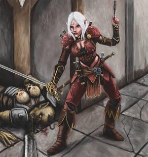 Elven Rogue by Crowsrock