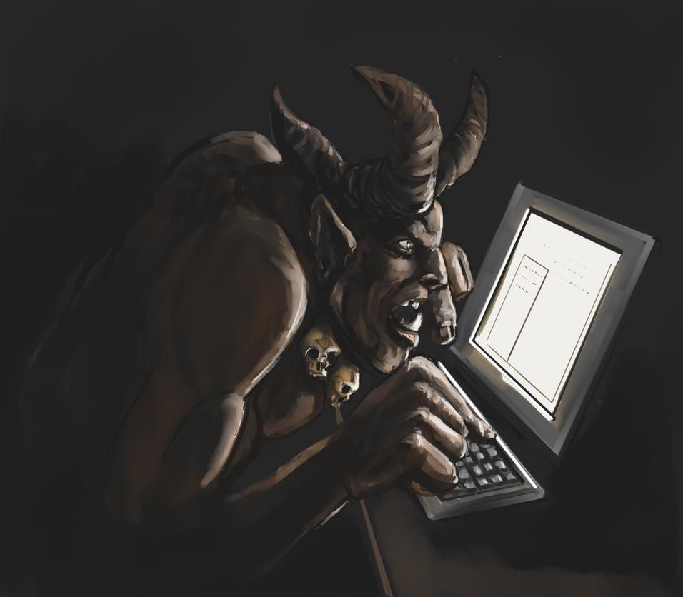 Internet Troll by Crowsrock