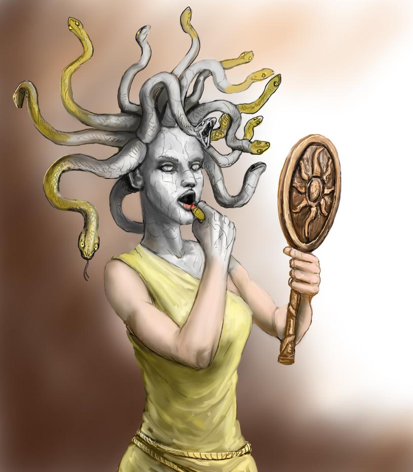 Medusa's Mirror Mistake by Crowsrock