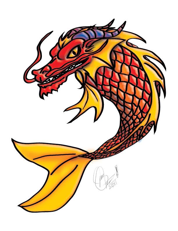 Koi Fish Dragon Tattoo Koi Fish Dragon Tattoo design