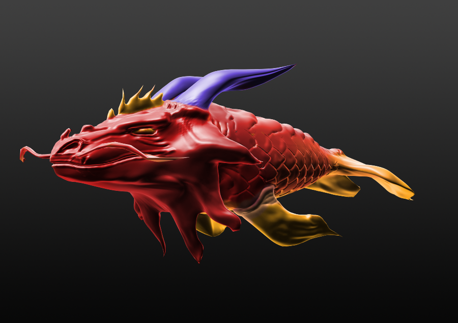 Koi fish dragon 3d by ragevortex on deviantart for Dragon koi fish