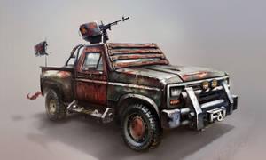 Improvised assault vehicle Concept Art