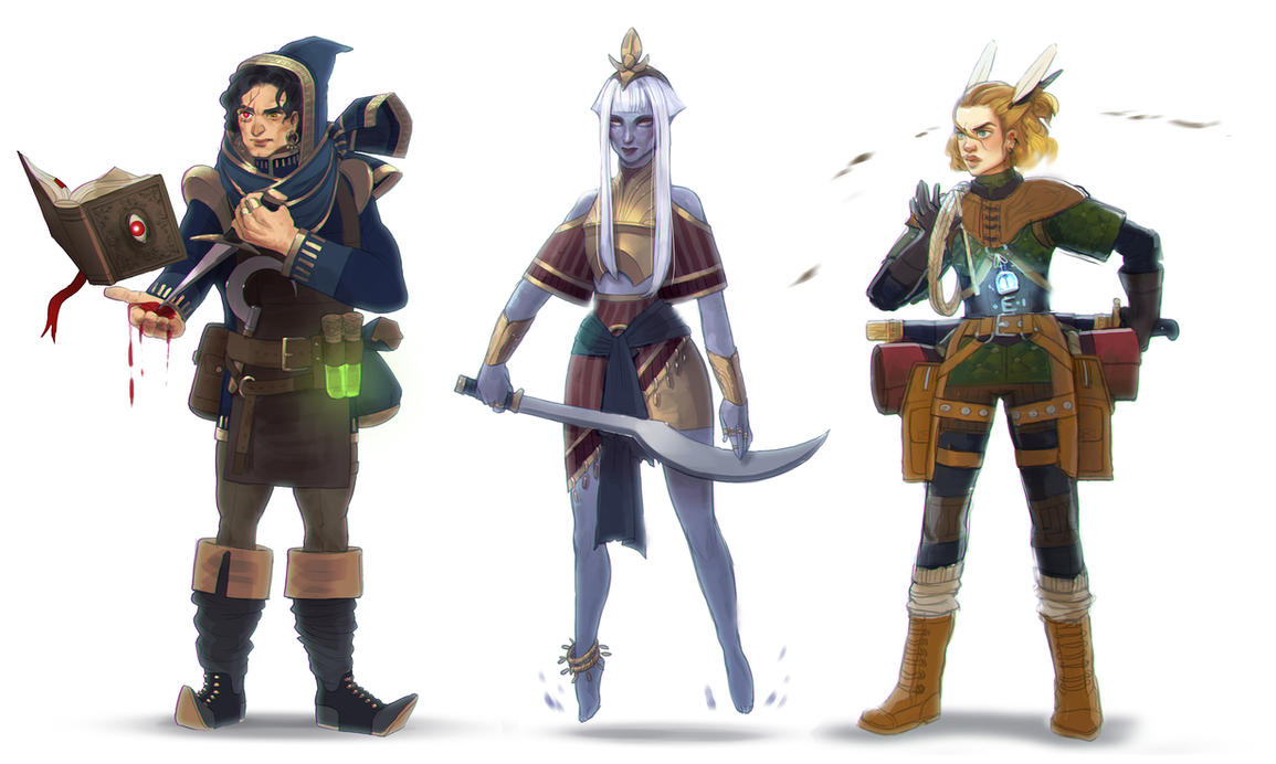 character lineup by Freiheit