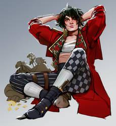 lila bard, coat thief by Freiheit