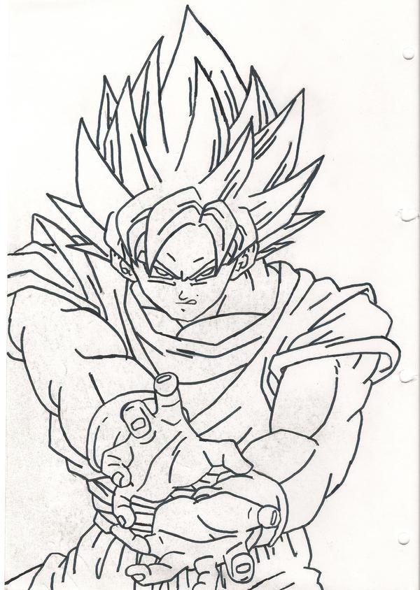 SSJ Goku- Kamehameha by sparten69r on DeviantArt