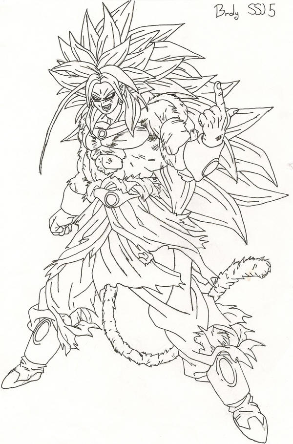 Coloring Pages Dragonball Z Ssj5