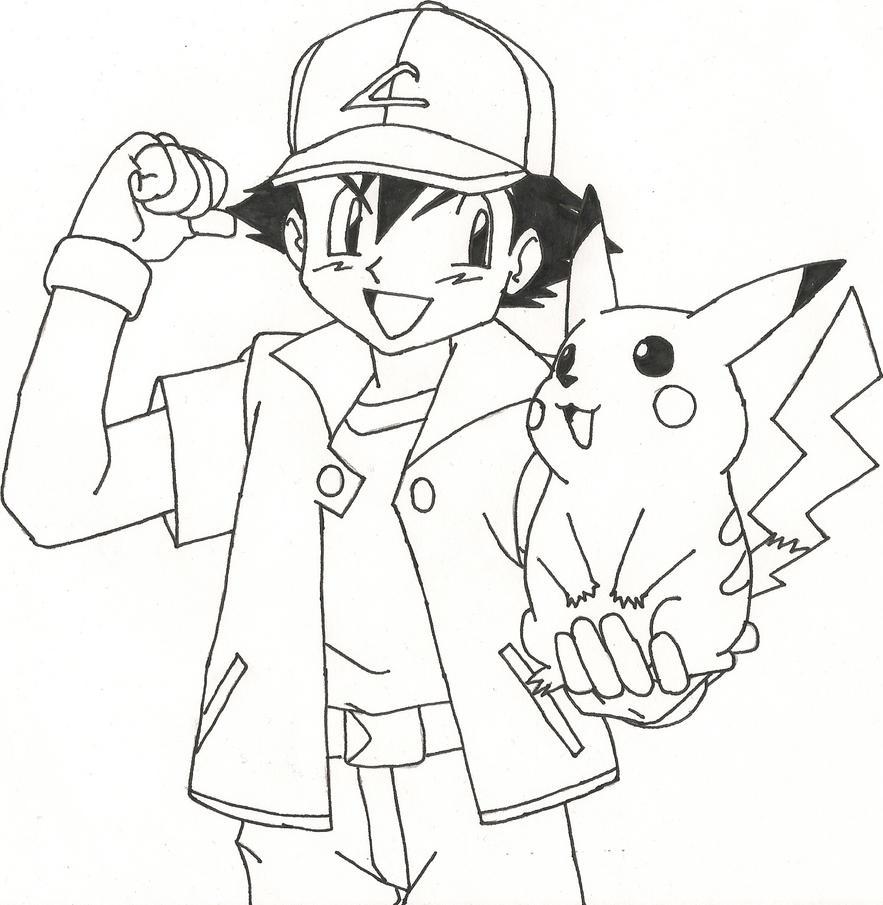Ash And Pikachu By Sparten69r On DeviantArt