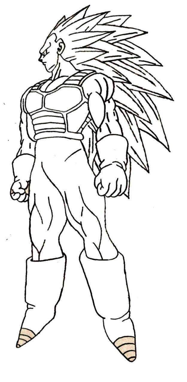 Vegeta Super Sainy 3 Free Coloring