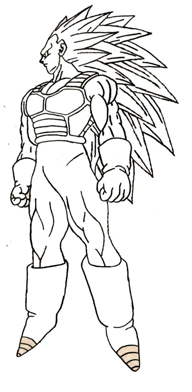 goku ssj coloring pages - vegeta ssj3 by sparten69r on deviantart