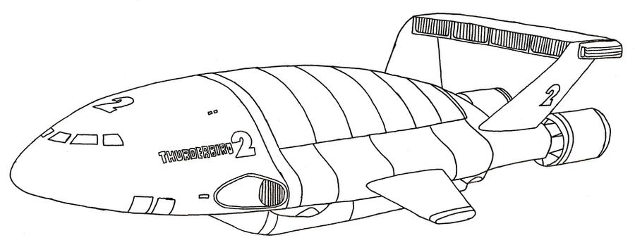 Thunderbird 2 by sparten69r on deviantart for Thunderbirds coloring pages