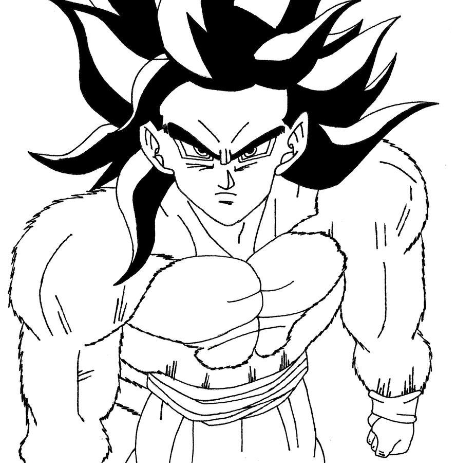Imagenes Para Pintar De Goku Fase 4