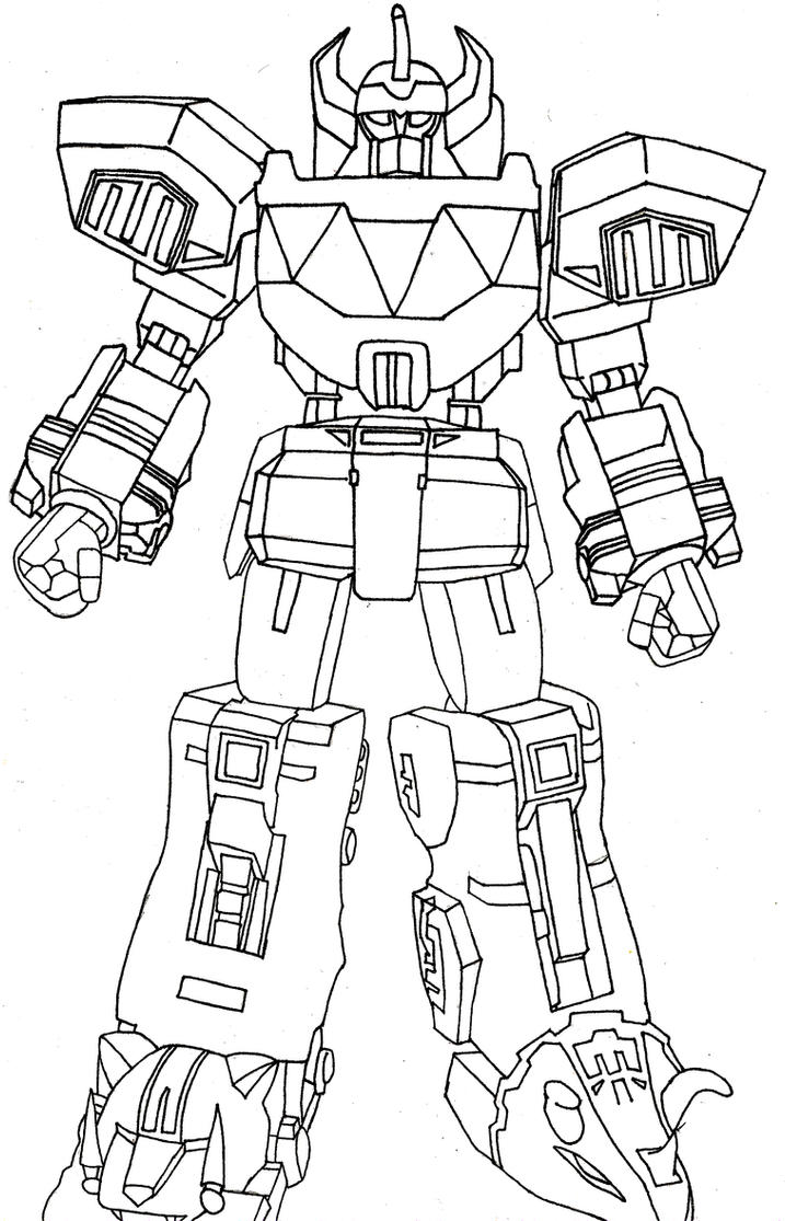 The megazord by sparten69r on deviantart for Power rangers megazord coloring pages
