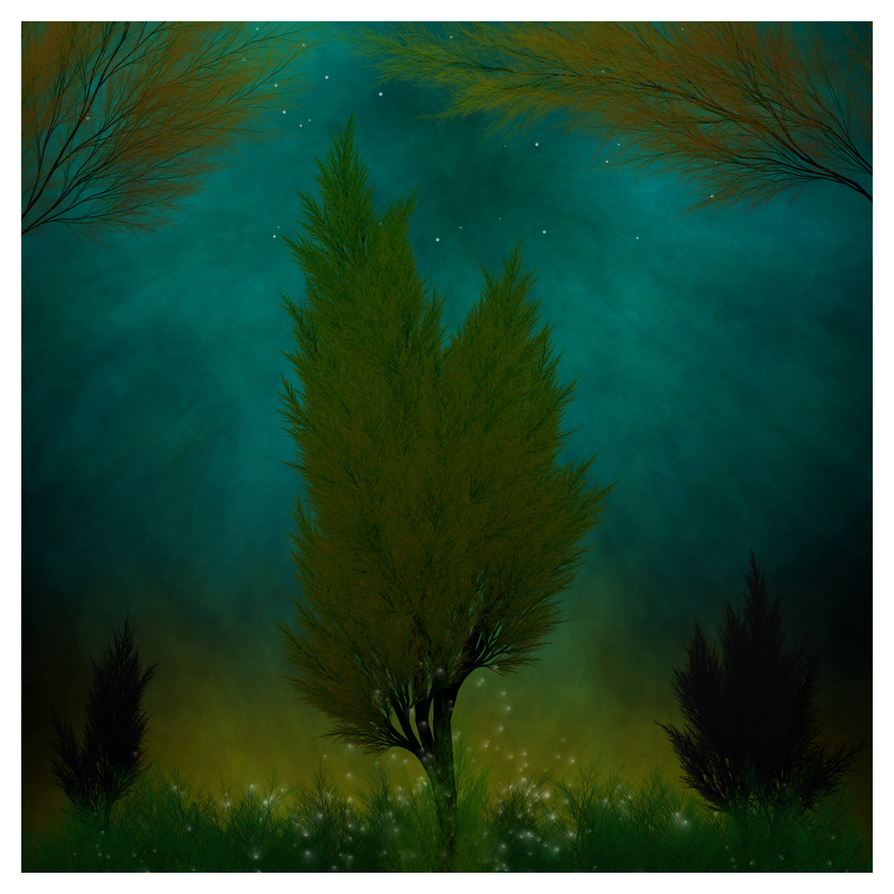 Generative Tree at night - variation NIGHT by netgenetics