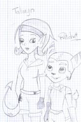 Talwyn and Ratchet by KazumyHinata
