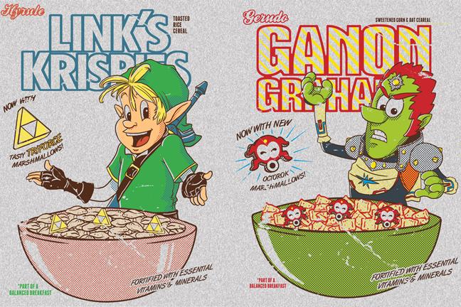 Zelda brand cereal by TeegKetchen