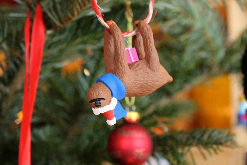 Christmas Sloth by dschooo on DeviantArt