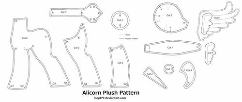 Free Alicorn Plush Pattern by TopPlush