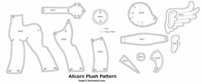 Free Alicorn Plush Pattern
