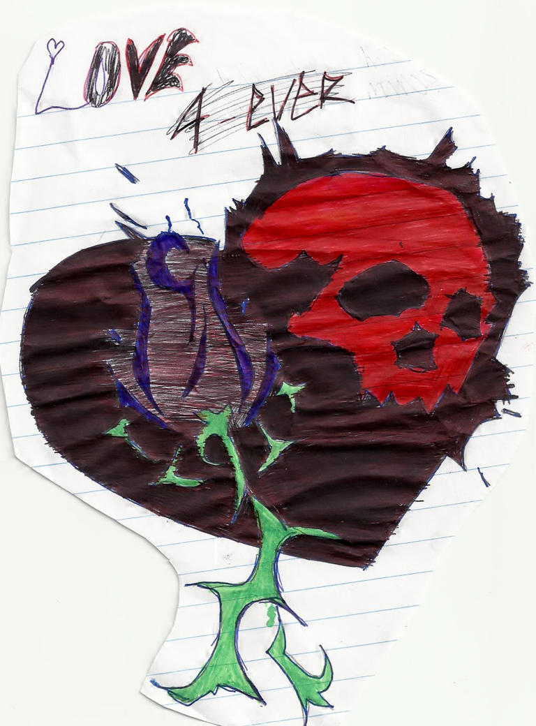 Gothic rose and emo heart by narukegoth on deviantart - Emo rose pictures ...