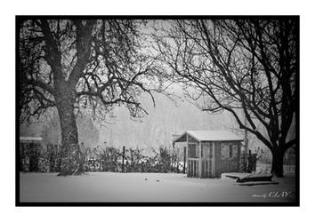 The little house in the snow by picturebyclay