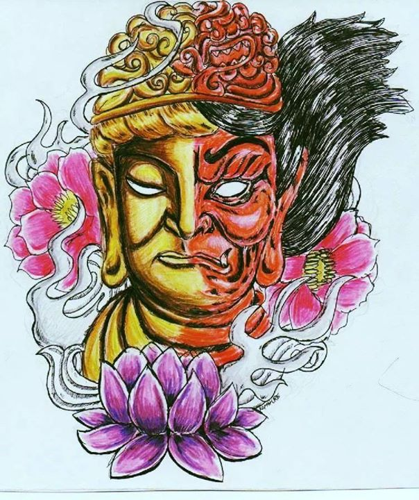 Buddha X Raijin by Raphture
