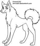Female Dog lineart
