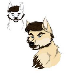 Wolf Jacksepticeye wip concept thingies by serra20