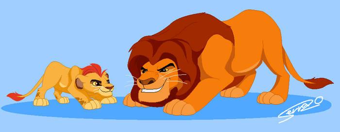 Mufasa and Kion
