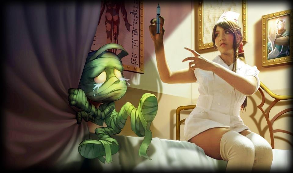 Akali nurse skin cosplay by Hikonicosplayr on DeviantArt
