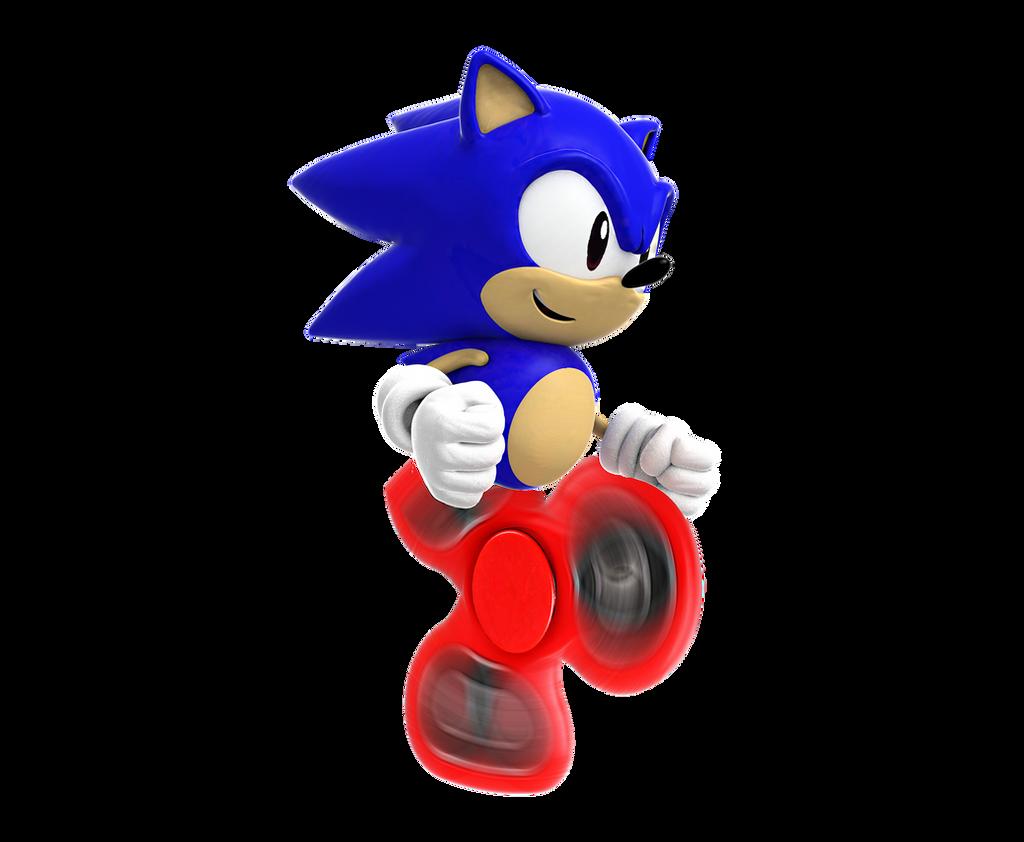 Fidget Spinner Sonic By Totallyserge On Deviantart