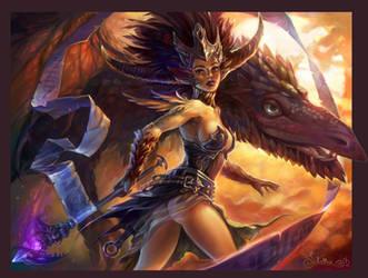 Dragon Caster by Quberon