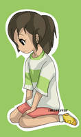Chihiro spirited away by InKittyPop