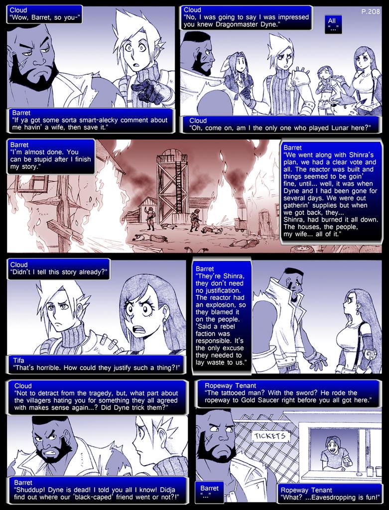 final fantasy 7 page208 by obstinatemelon on deviantart
