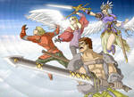 Fighting the Shadowy Gods Tribute by ObstinateMelon