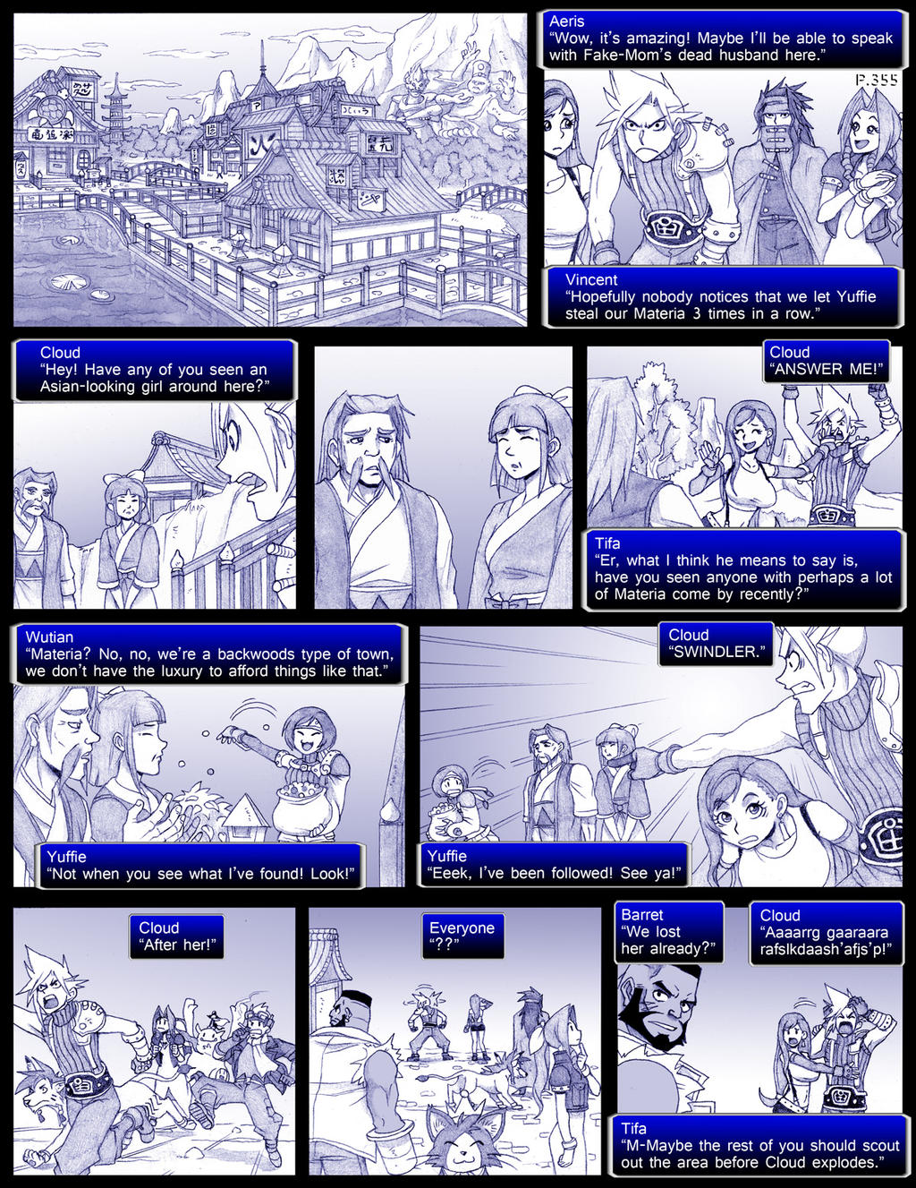 Final Fantasy 7 Page355 by ObstinateMelon
