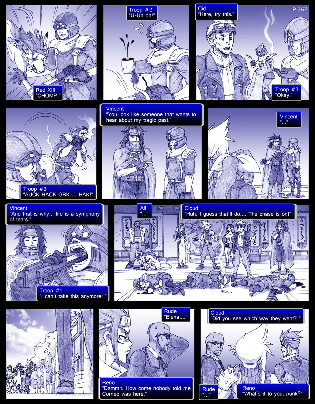 Final Fantasy 7 Page367 by ObstinateMelon