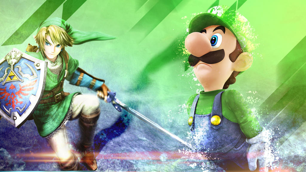 Luigi and Link Wallpaper by 1356000