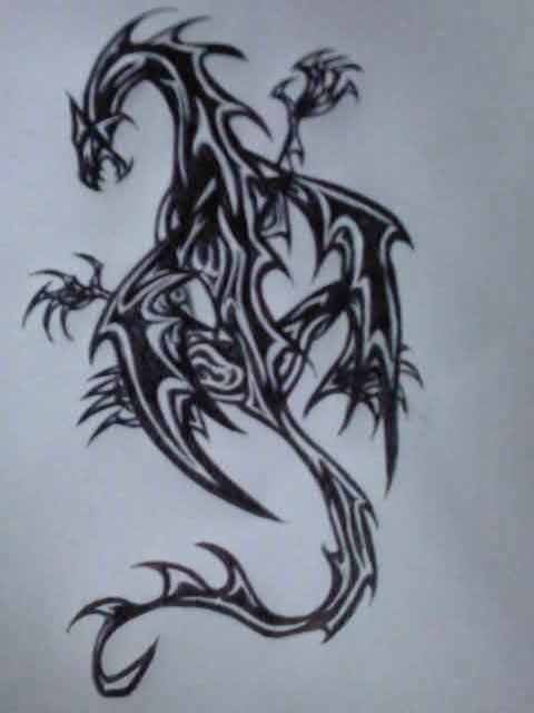 dragon tattoo by ava night on deviantart. Black Bedroom Furniture Sets. Home Design Ideas