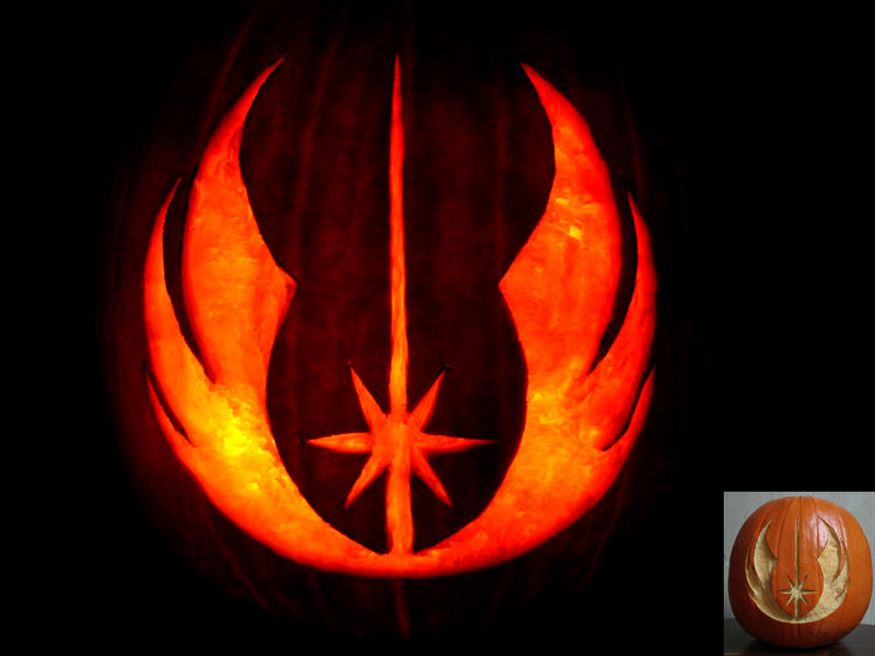 Jedi Pumpkin by Hornett