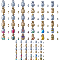 Sprite Might - Icons and Props - Bottles 01 INDEX by spritemight