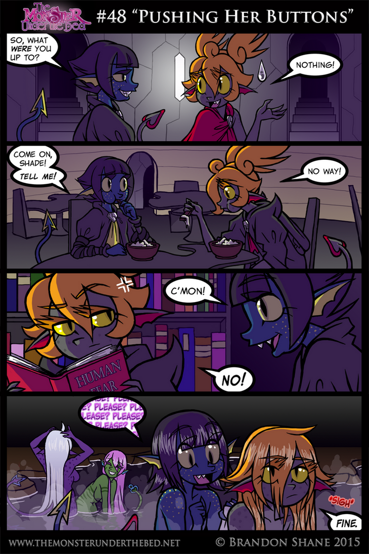 The Monster Under the Bed -48- Pushing Her Buttons by JiveGuru