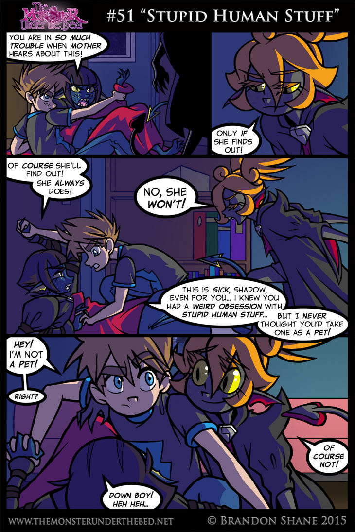 The Monster Under the Bed -051- Stupid Human Stuff by JiveGuru