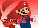 Brawl-paper: Mario