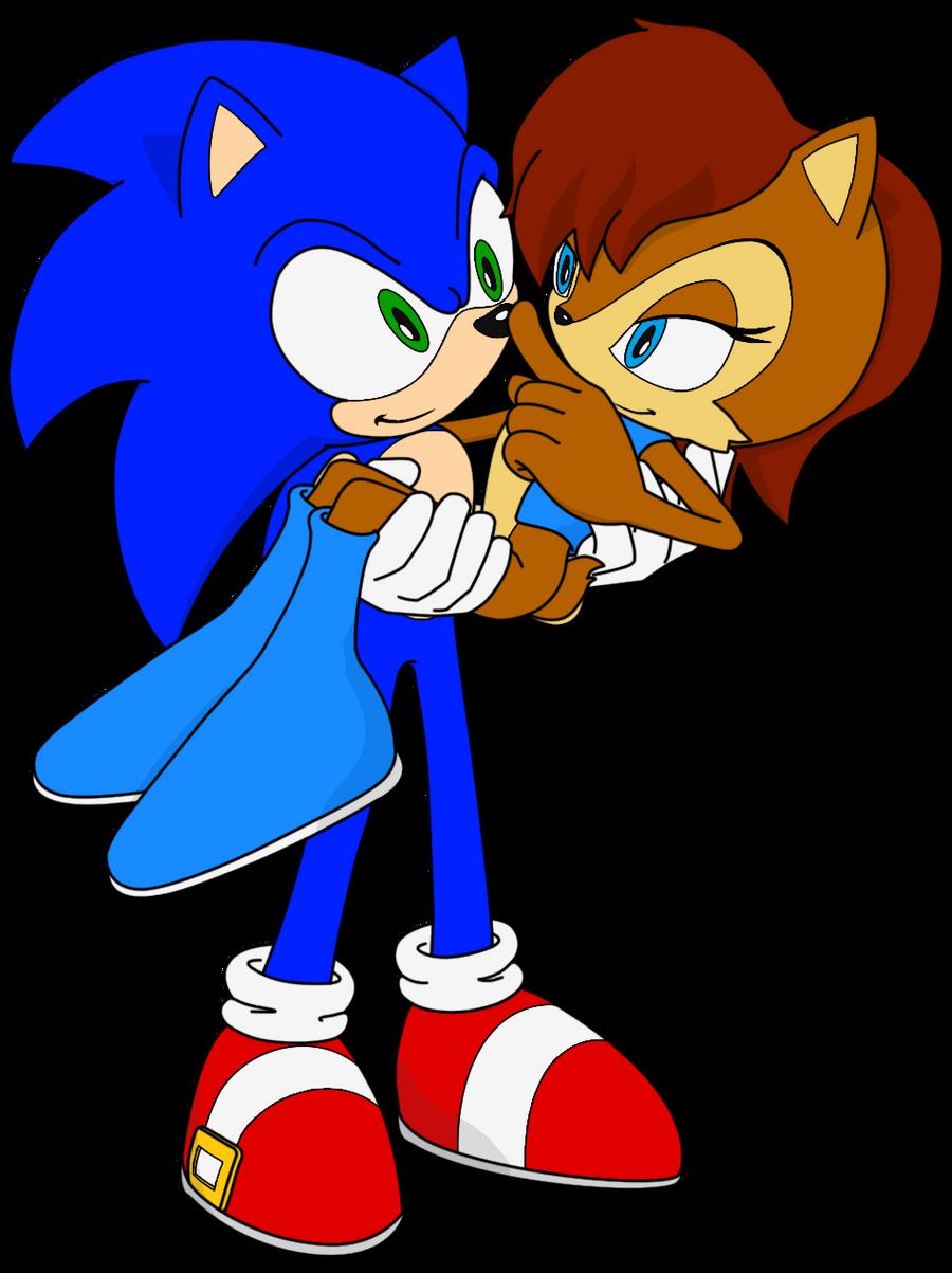 Sonic and Sally by Zero20-2 on DeviantArt Руж И Соник