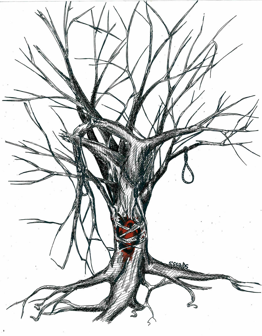 dead tree comission third one by sissadds on deviantart