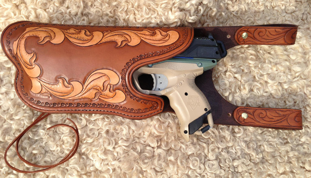 Leather NERF gun holster by DoctorSprockets ...