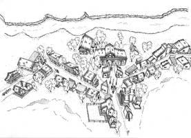 Village. isometric view