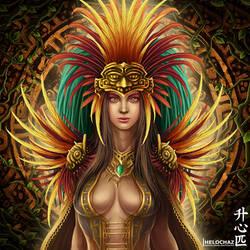 Aztec Priestess by HeLoChaz