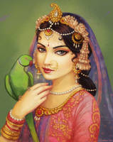 Radha and Her Parrot
