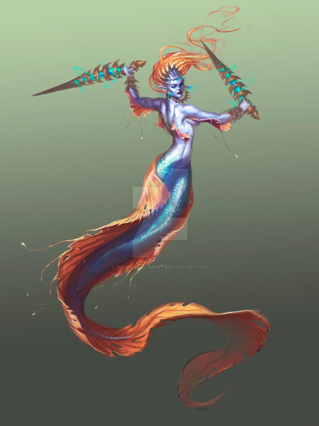 Mermaid warrior by bat11 on DeviantArt